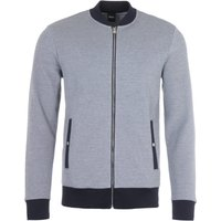 BOSS Skiles Zip Through Sweatshirt - Navy