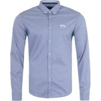 BOSS Biado Cotton Jersey Shirt - Light Blue