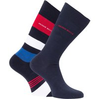 BOSS Bodywear 2 Pack Sustainable Bold Stripe Socks - Navy