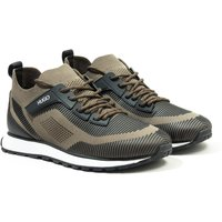 HUGO Icelin Runn Sustainable Sock Trainer - Dark Green