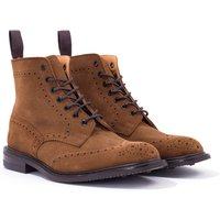Tricker's Stow Repello Suede Brogue Boots - Snuff