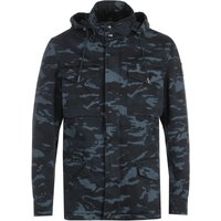 Belstaff Fieldwood Hooded Jacket - Camo Ink Blue