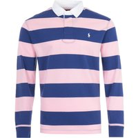 Polo Ralph Lauren Stripe Rugby Shirt - Navy and Pink