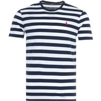 Polo Ralph Lauren Block Stripe Custom Slim Fit T-Shirt - White