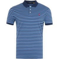 Polo Ralph Lauren Stripe Custom Slim Fit Polo Shirt - Navy & Blue