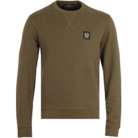Belstaff Patch Logo Crew Neck Sweatshirt - Olive