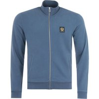 Belstaff Patch Logo Full Zip Sweatshirt - Racing Blue