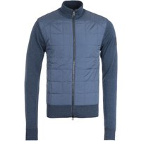 Belstaff New Kelby Merino Wool Racing Blue Zip Cardigan