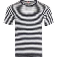 Armor Lux Heritage Stripe Cotton Linen T-Shirt - Navy & Nature
