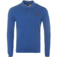 Paul & Shark Organic Cotton Long Sleeve Polo Shirt - Blue