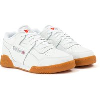 Reebok Workout Plus Trainers - White, Carbon & Gum