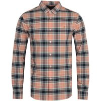 Farah Brewer Organic Cotton Check Shirt - Peach Solstice