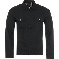 Pretty Green Brushed Field Overshirt - Black