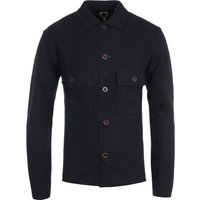 Pretty Green Boiled Wool Overshirt - Black