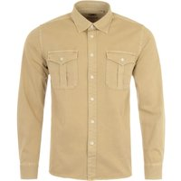 Pretty Green Twillford Long Sleeve Shirt - Stone