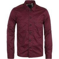 Pretty Green Connor Overshirt - Burgundy