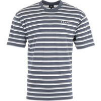 Edwin Quarter Stripe T-shirt - Navy & Frost Grey