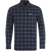 Fred Perry Tonal Check Shirt - Navy