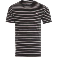 Fred Perry Fine Stripe T-Shirt - Hunting Green