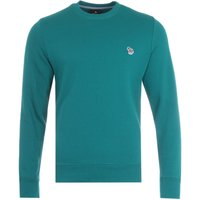 PS Paul Smith Zebra Logo Organic Cotton Sweatshirt - Teal