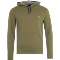 PS Paul Smith Zebra Logo Organic Cotton Hooded Sweatshirt - Olive