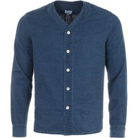 PS Paul Smith Baseball Collar Denim Shirt - Indigo