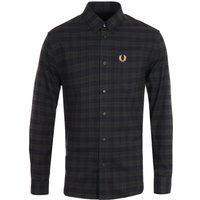 Fred Perry Micro Tartan Navy Shirt