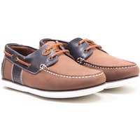 Barbour Capstan Leather Boat Shoes - Brandy