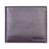Barbour Amble Leather Billfold Wallet - Dark Brown