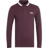 Barbour International Engine Dark Burgundy Long Sleeve Polo Shirt
