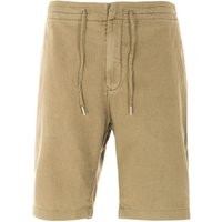 Barbour Linen Shorts - Military Green