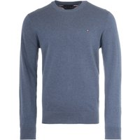 Tommy-Hilfiger-Crew-Neck-Sweater-Faded-Indigo-Heather