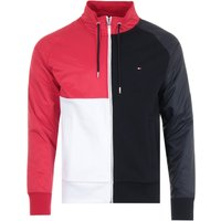 Tommy Hilfiger Colour Block Organic Cotton Zip Sweatshirt - Red, White & Desert Sky