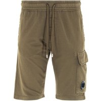 CP Company Cargo Pocket Lens Bermuda Sweat Shorts - Ivy Green
