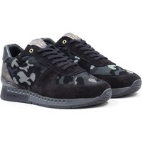 Unlike Humans Surge Runner Black & Grey Particle Camo Trainers