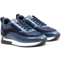Unlike Humans Influx Runner Satin Nylon Trainers - Dark Navy