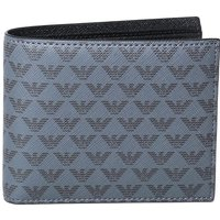 Emporio Armani All-Over Eagle Logo Grey Leather Wallet