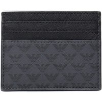 Emporio Armani Black Eagle Pattern Card Holder