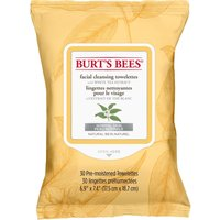 Burt's Bees Facial Cleansing Towelettes with White Tea Extract - 30 Wipes - Facial Gifts
