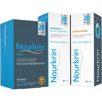 Nourkrin Man Value Pack - 180 Tablets, Shampoo and Conditioner