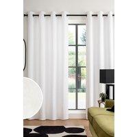 Next Cotton Eyelet Blackout/Thermal Curtains - White