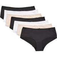 Womens Next Black/White/Nude Microfibre Shorts Seven Pack - Nude