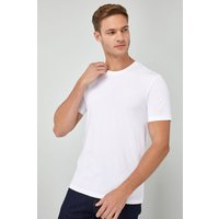 'Mens Next White Slim Fit Crew Neck T-shirt -  White