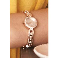 Womens Next Rose Gold Tone Small Sparkle Bracelet Watch - Gold