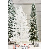 Next Slim Vermont Snowy 7ft Christmas Tree - Green