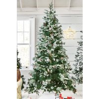 Next 300 LED Vermont Snowy 7ft Christmas Tree - White