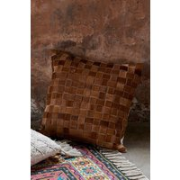 French Connection Basket Weave Cushion - Natural