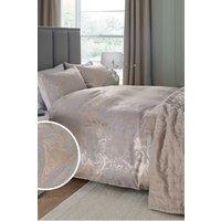 Next Jacquard Marble Duvet Cover and Pillowcase Set - Grey
