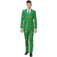 'Mens Christmas Jumper Suit -  Green
