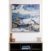 Next Galaxy Framed Canvas - Blue